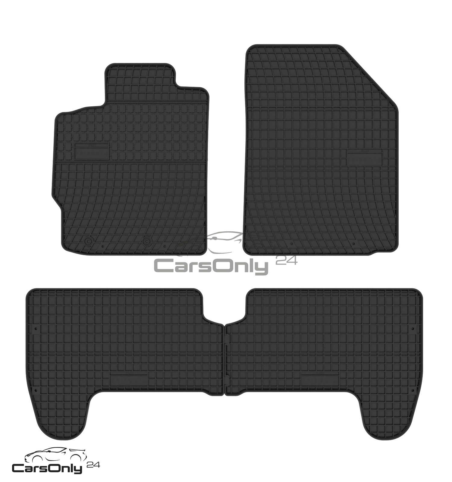 original qualit t gummi fu matten toyota yaris 2005 2011. Black Bedroom Furniture Sets. Home Design Ideas