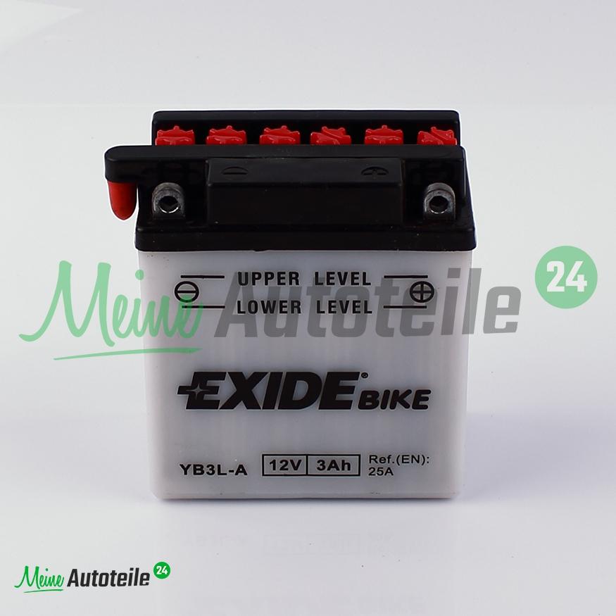 original exide yb3l a 3ah 12v motorrad roller batterie. Black Bedroom Furniture Sets. Home Design Ideas