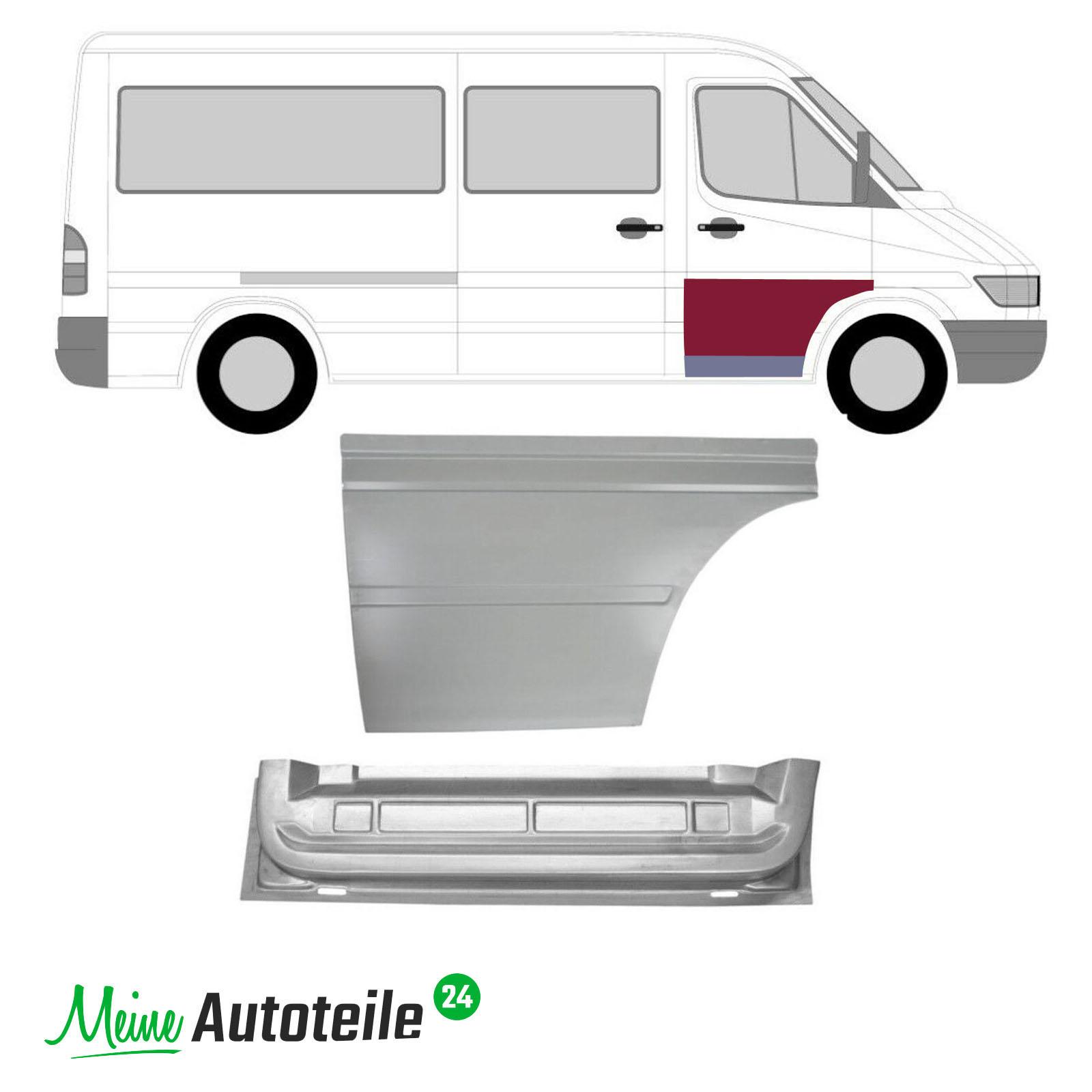 Mercedes Sprinter VW LT 1995-2006 Hinten Tür Innen Reparaturblech Rechts