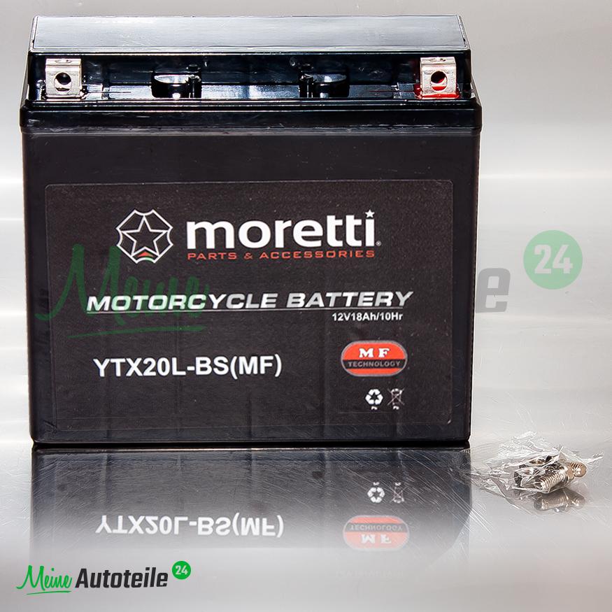 gel batterie original moretti ytx20l bs motorrad quad 12v. Black Bedroom Furniture Sets. Home Design Ideas