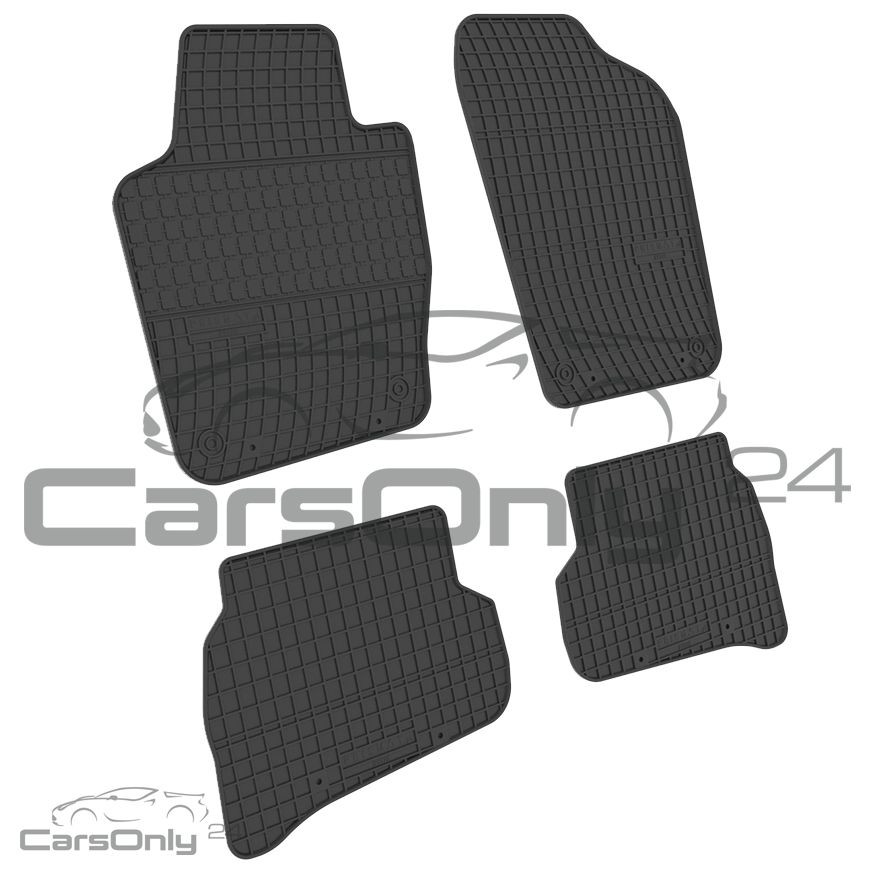 original qualit t passgenau gummi fu matten vw polo v seat. Black Bedroom Furniture Sets. Home Design Ideas