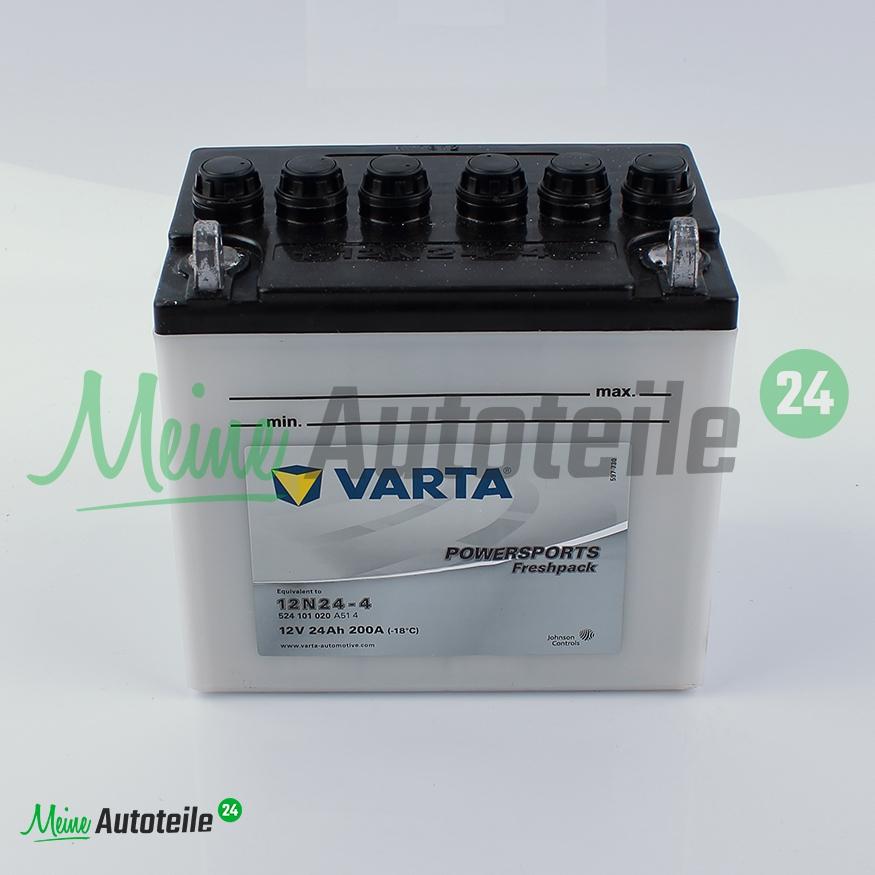 original varta powersports motorrad batterie 12n24 4 12 v. Black Bedroom Furniture Sets. Home Design Ideas