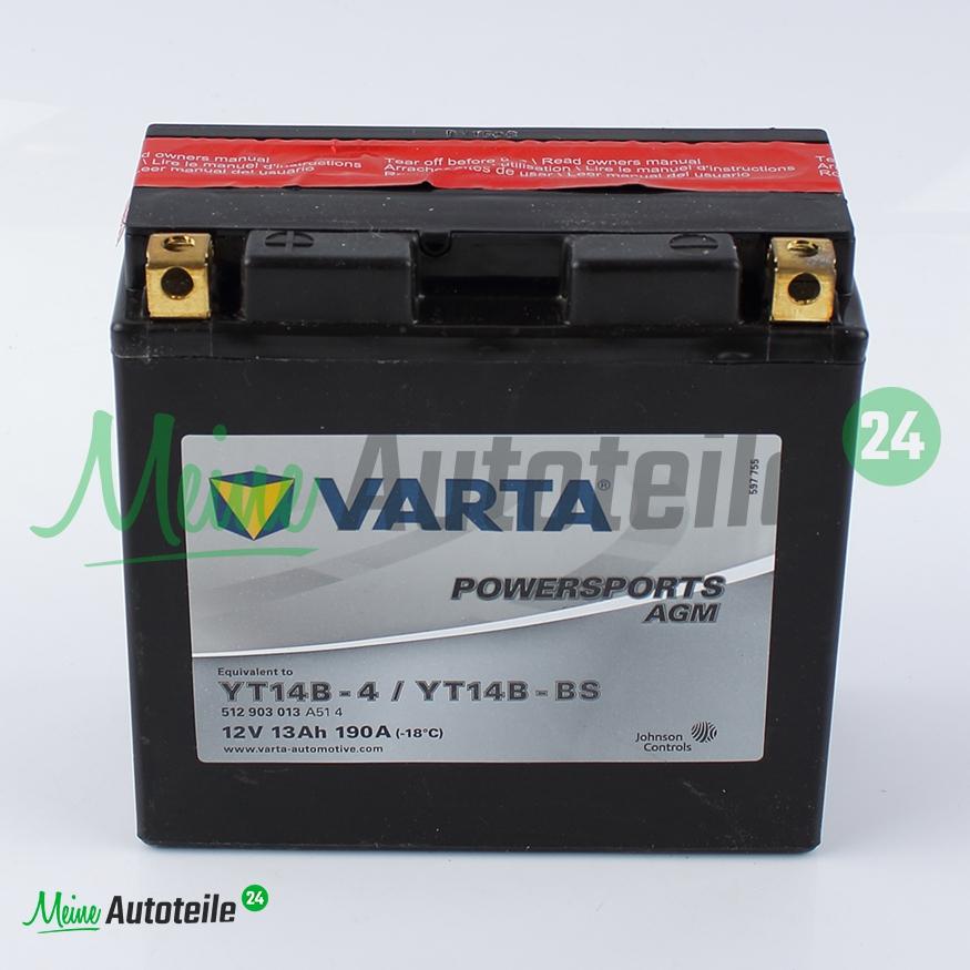 motorrad agm batterie original varta powersports yt12a bs. Black Bedroom Furniture Sets. Home Design Ideas